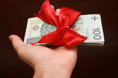 χρήματα δώρων Στοκ φωτογραφίες με δικαίωμα ελεύθερης χρήσης