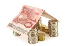 χρήματα 2 σπιτιών Στοκ φωτογραφία με δικαίωμα ελεύθερης χρήσης