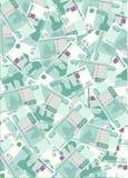 χρήματα 2 σωρών Στοκ εικόνα με δικαίωμα ελεύθερης χρήσης