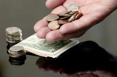 χρήματα 4 αμερικανικά χειρ&omi Στοκ Εικόνες