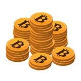 Χρήματα Bitcoin ανοικτός-πηγής Στοκ Φωτογραφίες