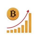 Χρήματα Bitcoin ανοικτός-πηγής Στοκ Εικόνα