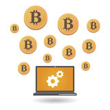 Χρήματα Bitcoin ανοικτός-πηγής Στοκ εικόνες με δικαίωμα ελεύθερης χρήσης