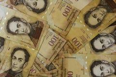 Χρήματα Bolivares BS 100 νομίσματος της Βενεζουέλας Στοκ Εικόνες