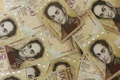 Χρήματα Bolivares BS 100 νομίσματος της Βενεζουέλας Στοκ Εικόνα