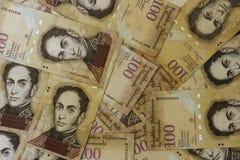 Χρήματα Bolivares BS 100 νομίσματος της Βενεζουέλας Στοκ εικόνα με δικαίωμα ελεύθερης χρήσης