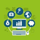 Χρήματα infographic Στοκ εικόνα με δικαίωμα ελεύθερης χρήσης