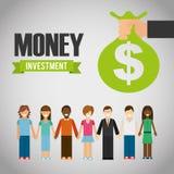 Χρήματα infographic Στοκ φωτογραφία με δικαίωμα ελεύθερης χρήσης