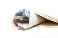 Χρήματα kebab Στοκ εικόνες με δικαίωμα ελεύθερης χρήσης
