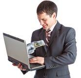 χρήματα on-line Στοκ εικόνα με δικαίωμα ελεύθερης χρήσης