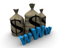 χρήματα www διανυσματική απεικόνιση