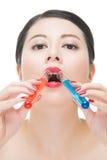 Χρήσης καλλυντικό υγρό φαρμάκων χημείας κατανάλωσης makeup ίσο Στοκ Εικόνα