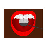 Χρήση στην επεξεργασία του οδοντικού καθρέφτη πινακίδων Στοκ φωτογραφία με δικαίωμα ελεύθερης χρήσης