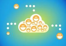 Χρήστες σύνδεσης σύννεφων Στοκ Εικόνες