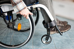 Χρήστης αναπηρικών καρεκλών Στοκ φωτογραφία με δικαίωμα ελεύθερης χρήσης