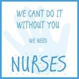 Χρειαζόμαστε τις νοσοκόμες ελεύθερη απεικόνιση δικαιώματος