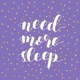 Χρειαστείτε περισσότερο ύπνο επίσης corel σύρετε το διάνυσμα απεικόνισης Στοκ φωτογραφία με δικαίωμα ελεύθερης χρήσης