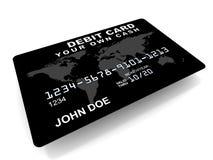 Χρεωστική κάρτα διανυσματική απεικόνιση