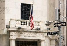 Χρηματιστήριο Αξιών της Νέας Υόρκης, ΗΠΑ Στοκ Εικόνες