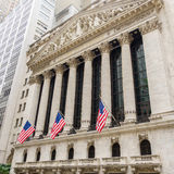 Χρηματιστήριο Αξιών της Νέας Υόρκης σε Γουώλ Στρητ Στοκ Εικόνες