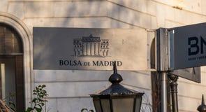 Χρηματιστήριο αποκαλούμενο κτήριο Bolsa de Μαδρίτη της Μαδρίτης Στοκ Εικόνα