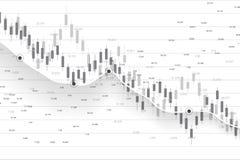 Χρηματιστήριο και ανταλλαγή Διάγραμμα γραφικών παραστάσεων ραβδιών επιχειρησιακών κεριών των εμπορικών συναλλαγών επένδυσης χρημα διανυσματική απεικόνιση