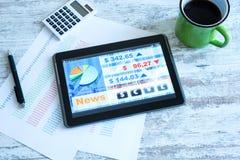 Χρηματιστήριο που ανταλλάσσει app σε ένα PC ταμπλετών στοκ φωτογραφίες με δικαίωμα ελεύθερης χρήσης