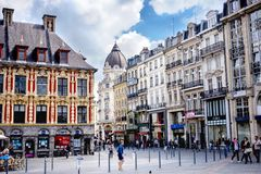 Χρηματιστήριο της ΛΙΛΛΗΣ â€ η «Vieielle, αυτό είναι ένα από τα σημαντικότερα μνημεία της γαλλικής πόλης της Λίλλης Γαλλία στοκ εικόνα με δικαίωμα ελεύθερης χρήσης