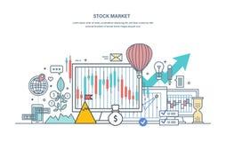 Χρηματιστικό χρηματιστήριο, προστασία των εμπορίων, κεφαλαιαγορά, ηλεκτρονικό εμπόριο, επενδύσεις ελεύθερη απεικόνιση δικαιώματος