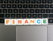 Χρηματοδότηση λέξης στο υπόβαθρο πληκτρολογίων Στοκ Εικόνα
