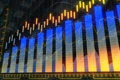 Χρηματοδότηση, analytics και έννοια αποθεμάτων ελεύθερη απεικόνιση δικαιώματος