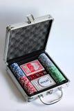 Χρηματοκιβώτιο για το πόκερ παιχνιδιού Στοκ Εικόνα