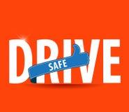 Χρηματοκιβώτιο κίνησης και προσεκτικά ασφαλής οδηγώντας έννοια εικόνων Στοκ Εικόνες