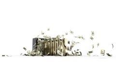 Χρηματοκιβώτιο και 10000 δολάρια Στοκ Φωτογραφία