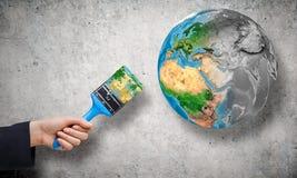 Χρηματοκιβώτιο ο πλανήτης μας Στοκ εικόνα με δικαίωμα ελεύθερης χρήσης