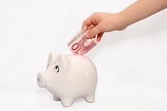 χρηματοκιβώτιο χοίρων κι&bet Στοκ φωτογραφία με δικαίωμα ελεύθερης χρήσης