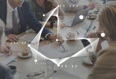 Χρηματοδότηση διαγραμμάτων στατιστικών Analytics γραφικών παραστάσεων incept Στοκ Εικόνες