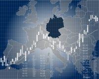 Χρηματοδότηση και οικονομία της Γερμανίας διανυσματική απεικόνιση