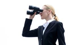 χρησιμοποίηση επιχειρηματιών διοπτρών Στοκ εικόνες με δικαίωμα ελεύθερης χρήσης