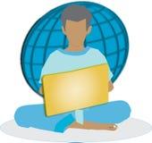 χρησιμοποίηση lap-top υπολογ&io Στοκ εικόνα με δικαίωμα ελεύθερης χρήσης