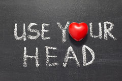 Χρησιμοποιήστε το κεφάλι σας Στοκ εικόνες με δικαίωμα ελεύθερης χρήσης