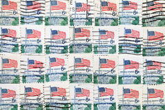 Χρησιμοποιημένα αμερικανικά γραμματόσημα Στοκ Φωτογραφίες