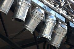 Χρησιμοποιημένα αντανακλαστικά σκηνικά φω'τα αλουμινίου Στοκ Εικόνα