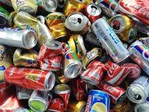 Χρησιμοποιημένα δοχεία για την ανακύκλωση Στοκ Εικόνα