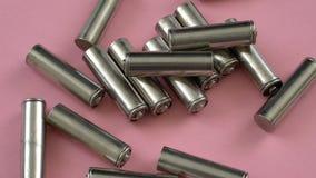 Χρησιμοποιημένες μπαταρίες για να ανακυκλώσει κοντά επάνω απόθεμα βίντεο