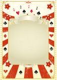 Χρησιμοποιημένη ανασκόπηση πόκερ Στοκ φωτογραφία με δικαίωμα ελεύθερης χρήσης