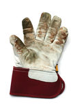 χρησιμοποιημένη γάντι εργ&alph Στοκ Φωτογραφία
