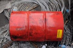 Χρησιμοποιημένη δεξαμενή καυσίμων Στοκ Φωτογραφία