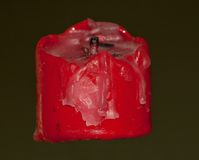 Χρησιμοποιημένο κόκκινο κερί Στοκ Εικόνες