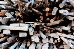 Χρησιμοποιημένο ξύλο κατασκευής Στοκ Φωτογραφίες